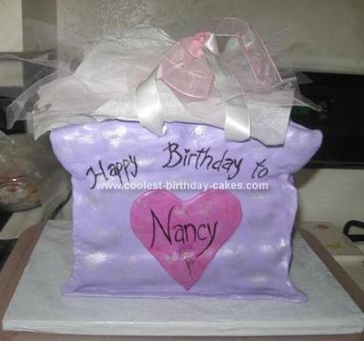 Homemade Gift Bag Birthday Cake