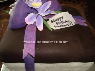 Homemade Gift Box Birthday Cake