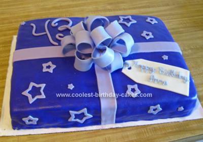 Homemade Gift Box Cake