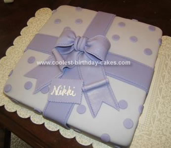 Homemade Gift Wrapped Birthday Cake