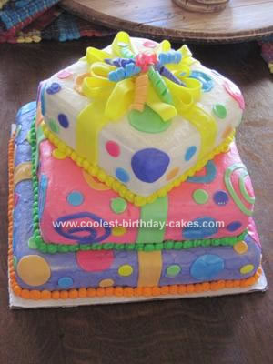 Homemade Gift Wrapped Cake