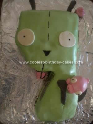 Homemade Gir from Invader Zim Cake Design
