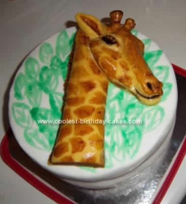 Homemade Giraffe Birthday Cake