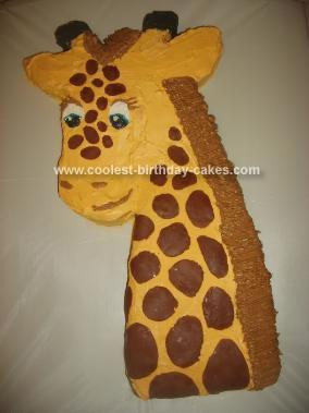 Homemade Giraffe Cake 16