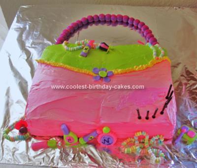 Homemade Girl Purse Cake