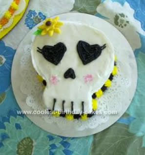 Homemade Girl Skull Birthday Cake Design