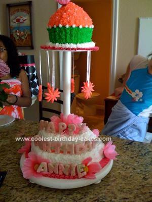 Homemade Girls Birthday Cake