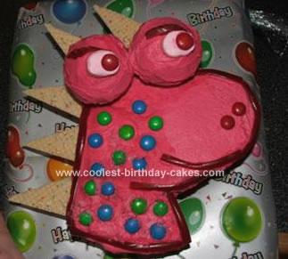 Homemade Girls Dinosaur Birthday Cake