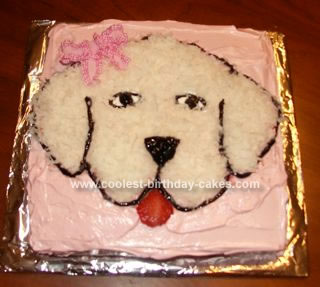 Homemade Girl's Dog Cake