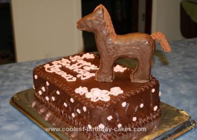 Homemade Girly Chocolate Horse Cake