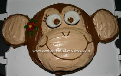Homemade Girly Monkey Cake