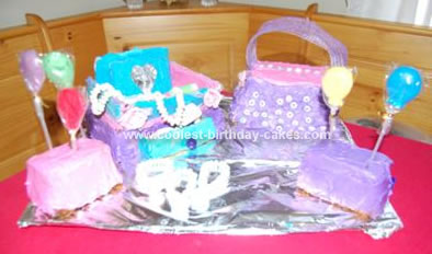 Homemade Glam Girl Cake
