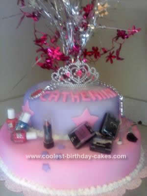 Homemade Glamour Birthday Cake Idea