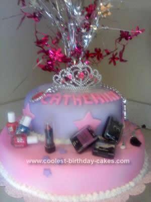 Homemade Glamour Birthday Cake Idea