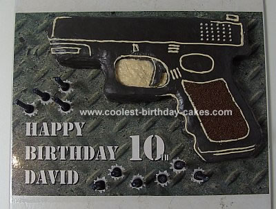 Homemade Glock® NSW Police Handgun Cake