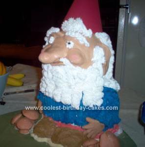 Homemade Gnome Cake