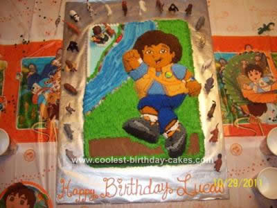 Homemade Go Diego Go Birthday Cake
