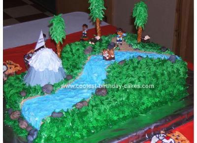 Homemade Go Diego Go Birthday Cake