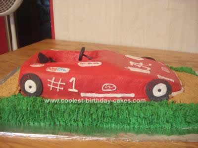Homemade Go Kart Birthday Cake Design