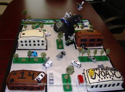 Homeade Godzilla Birthday Cake