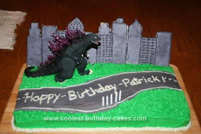 Cool Homemade Godzilla Birthday Cake