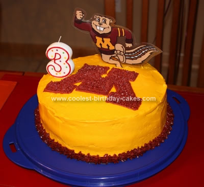 Homemade Goldy Gopher Cake