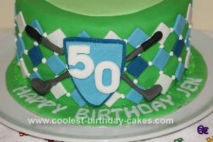Homemade Golf Argyle 50th Birthday Cake