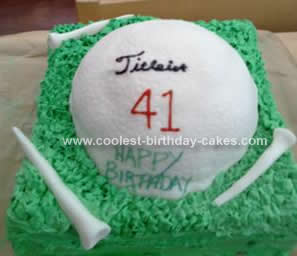 Homemade Golf Birthday Cake