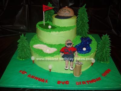 Homemade Golf Cake