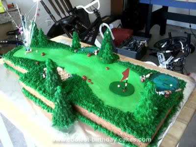 Coolest Homemade Golf Course Cake