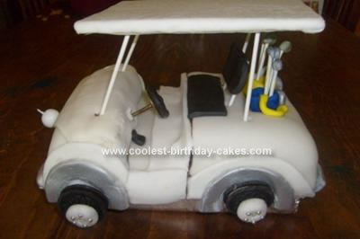 Homemade Golf Cart Birthday Cake
