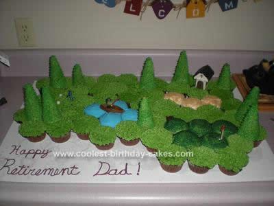 Homemade Golf Course Birthday Cake