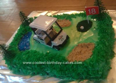 Homemade Golf Course Cake