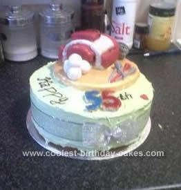 Homemade Golf Themed Cake