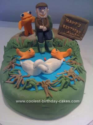 Homemade Gone Fishing Cake Idea