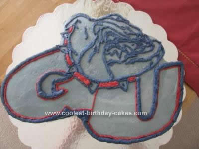 Homemade Gonzaga Bulldogs Cake