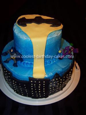 Homemade Gotham City Cake