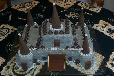 Super Coolest Gothic Castle Cake Birthday Cards Printable Inklcafe Filternl