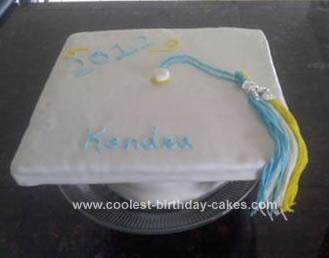 Homemade Graduation Cap Cake