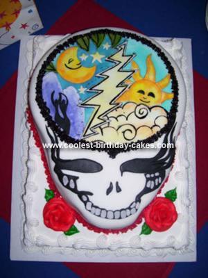 Coolest Grateful Dead Steel Your Face Cake