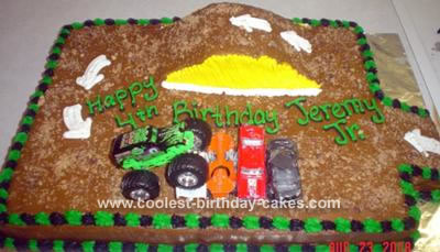 This Grave Digger Cake Was My Sons 4th Birthday He Loves Everybody Loved The At Party They All Thought That It A Great