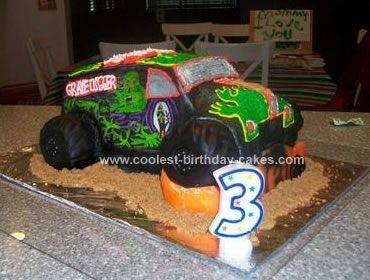 Incredible Coolest Grave Digger Cake Funny Birthday Cards Online Alyptdamsfinfo