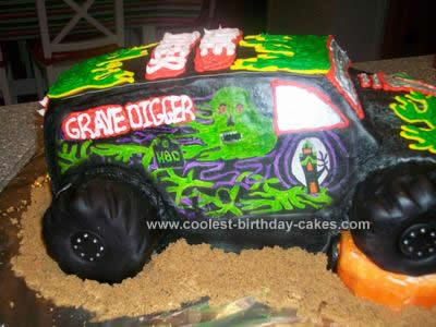 Awesome Coolest Grave Digger Cake Funny Birthday Cards Online Alyptdamsfinfo