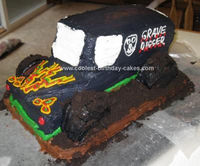 Coolest Grave Digger Truck Cake