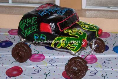 Homemade Gravedigger Monster Jam Cake