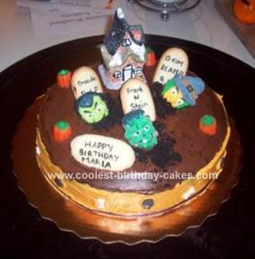 Homemade Graveyard Birthday Cake