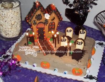 Homemade Graveyard Cake