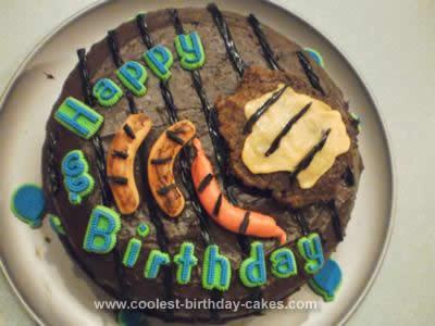 Homemade Grill Birthday Cake
