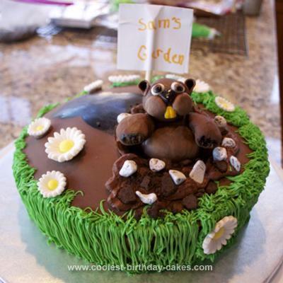Homemade Groundhog Day Cake