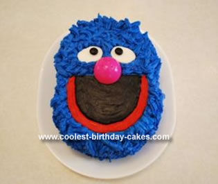 Homemade Grover Birthday Cake